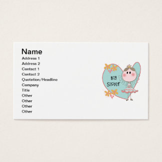 Heart Big Sister Business Card