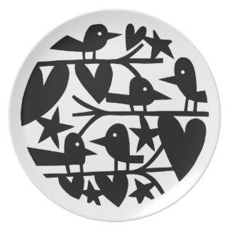 Heart Birds Plate