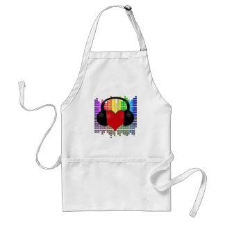 Heart bit - transparent standard apron