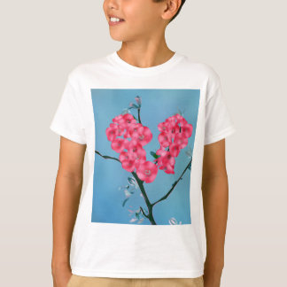 Heart Blooming Flowers T-Shirt