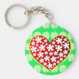 Heart blooms with Good Luck Keychain
