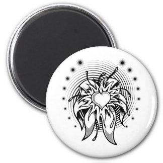 Heart Blossom Fridge Magnet