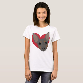 Heart Blue Min Pin T-Shirt No3