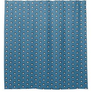 Heart Blue Shower Curtain