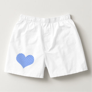 Heart - blue strips. boxers