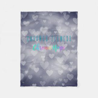 Heart Bokeh Fleece Blanket