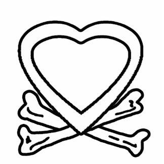 Heart & Bones White The MUSEUM Zazzle Gifts Photo Sculpture Button