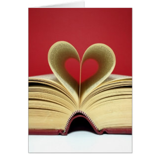 Heart Book Valentine's Day Card