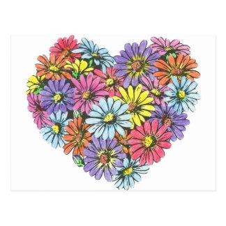 Heart Bouquet Postcard