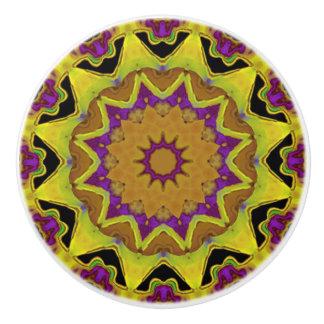 Heart Box Sun Gold Mandala Ceramic Knob
