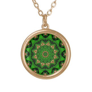 Heart Box Sun Green Gold Plated Necklace