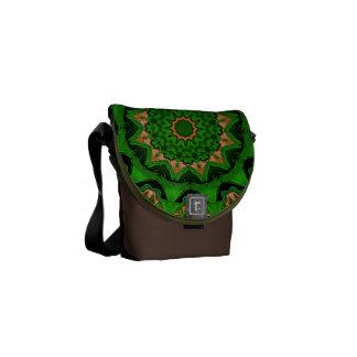 Heart Box Sun Green Mandala Commuter Bags