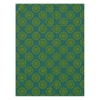 Heart Box Sun Green Tablecloth
