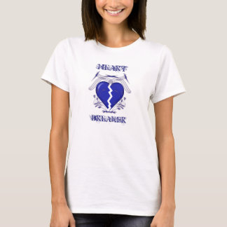 Heart Breaker: Ladies White T-Shirt: Heartbreaker T-Shirt