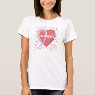 Heart Breast Cancer Customizable T-shirt