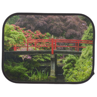 Heart Bridge with blossoming rhododendrons, Car Floor Carpet