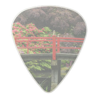 Heart Bridge with blossoming rhododendrons, Acetal Guitar Pick