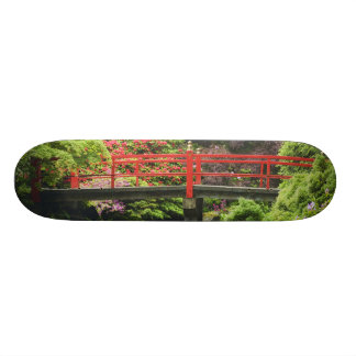 Heart Bridge with blossoming rhododendrons, Custom Skate Board
