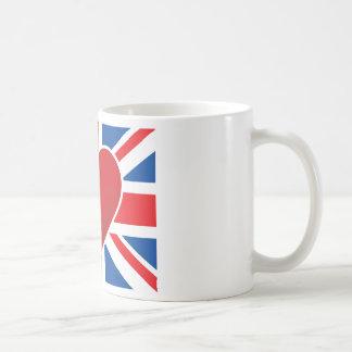 Heart British Flag Basic White Mug