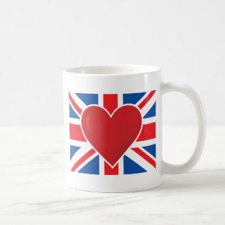 Heart British Flag Coffee Mug