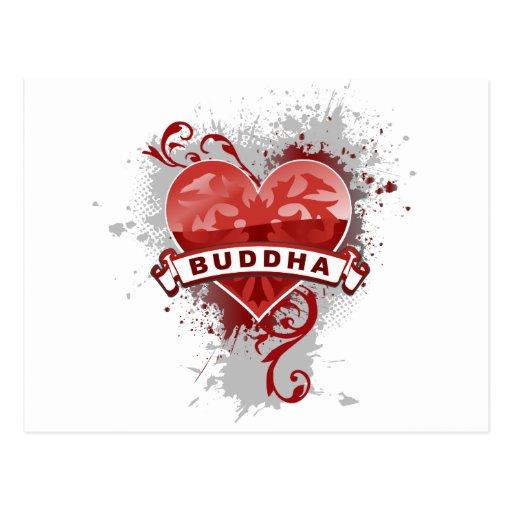 Heart Buddha Post Cards