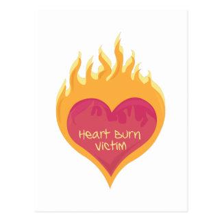 Heart Burn Victim Postcard