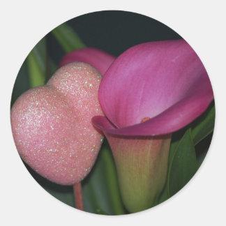 Heart & Calla Lily Sticker
