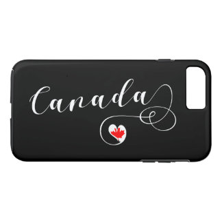 Heart Canada Cell Phone Case, Canadian Flag iPhone 8 Plus/7 Plus Case