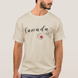Heart Canada T-Shirt, Canadian Flag T-Shirt