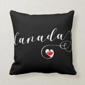Heart Canada Throw Pillow, Canadian Flag Throw Pillow