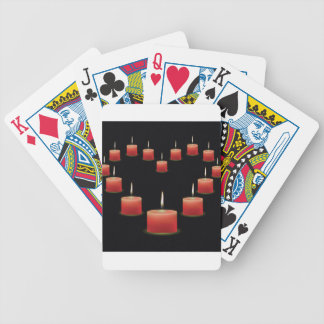 heart candles bicycle playing cards