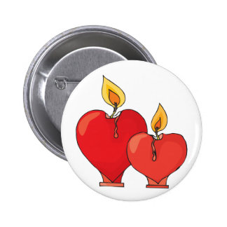 Heart Candles Pinback Button