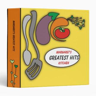 Heart carrot utensils & vegetables recipe binder