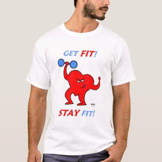 Heart Cartoon Fitness Cardio Workout Exercise T-Shirt