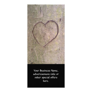 Heart Carved in a Tree Rack Card