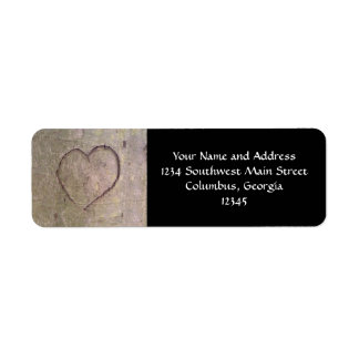 Heart Carved in a Tree Return Address Label
