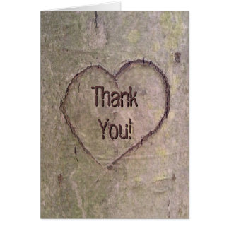 Heart Carved in Tree, Custom Romantic Nature Card