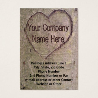 Heart Carved in Tree, Nature Business Card