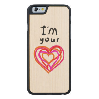 Heart Carved Maple iPhone 6 Case