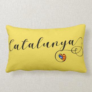 Heart Catalunya Pillow, Catalan Estelada Lumbar Pillow