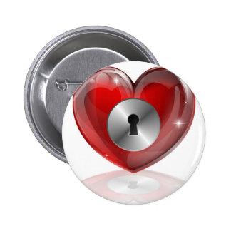 heart chains 2012 C6 jpg Pinback Buttons