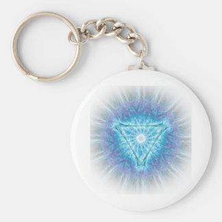heart chakra (ajna अजन) basic round button keychain