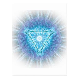 heart chakra (ajna अजन) postcard