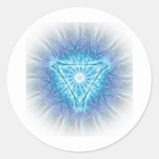 heart chakra (ajna अजन) round sticker