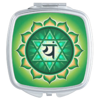 Heart Chakra Compact Mirrors
