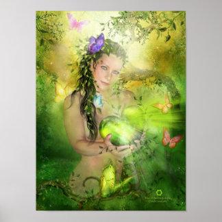 Heart Chakra Goddess Fine Art Poster/Print Poster