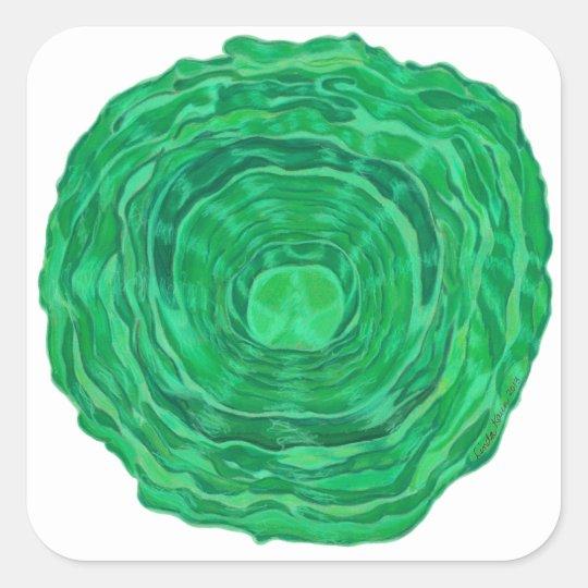 Heart Chakra Healing Art - #3 Square Sticker