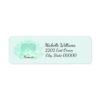 Heart Chakra Lotus Namaste Return Address Return Address Label