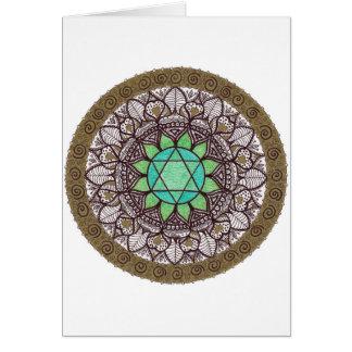 Heart Chakra Mandala Card