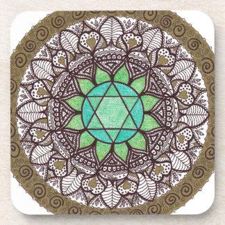Heart Chakra Mandala Coaster